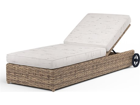 Sunset West Havana Wicker Adjustable Chaise Lounge
