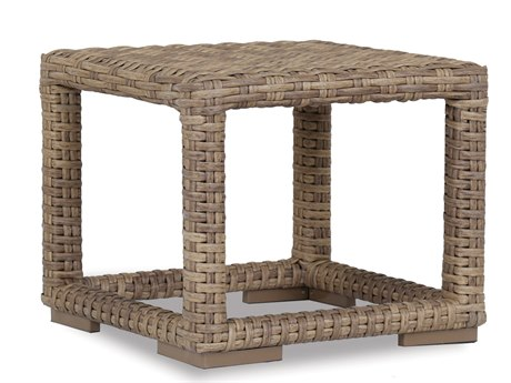 Sunset West Quick Ship Havana Wicker 23 Square End Table