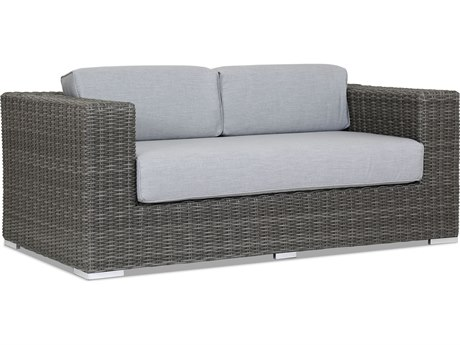 Sunset West Emerald II Wicker Loveseat