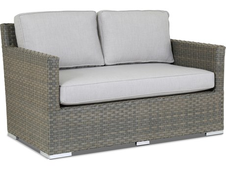 Sunset West Quick Ship Majorca Wicker Loveseat in Cast Silver