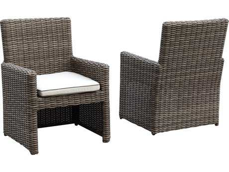Sunset West Quick Ship Coronado Wicker Dining Arm Chair