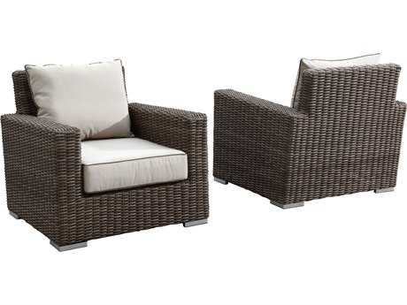 Sunset West Quick Ship Coronado Wicker Club Chair