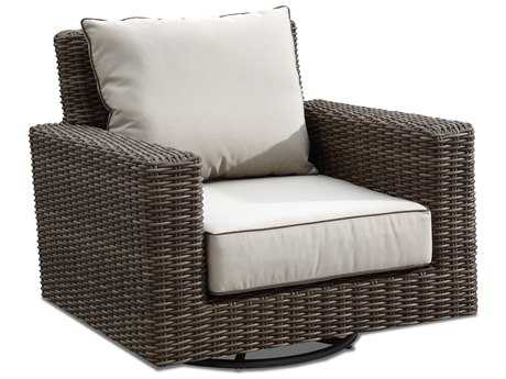 Sunset West Quick Ship Coronado Wicker Swivel Rocker