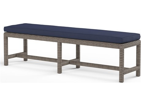 Sunset West Coronado Wicker Dining Bench