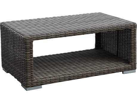 Sunset West Quick Ship Coronado Wicker 48 x 29 Rectangular Coffee Table