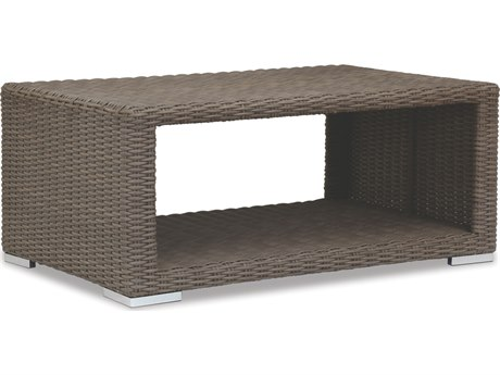 Sunset West Quick Ship Coronado Wicker 48 x 29 Rectangular Coffee Table PatioLiving