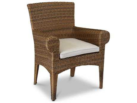 Sunset West Quick Ship Santa Cruz Wicker Dining Chair