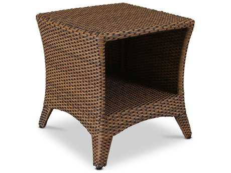 sunset west quick ship santa cruz wicker 21 square end table