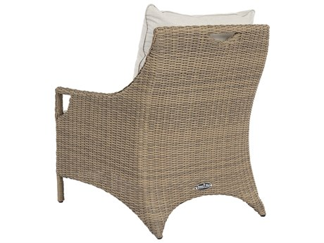 Sunset West Ibiza Quick Ship Wicker Lounge Chair in Canvas Flax