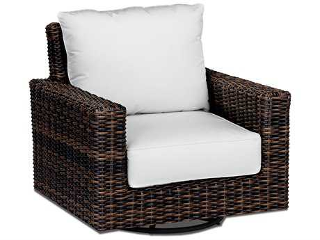 Sunset West Quick Ship Montecito Wicker Swivel Rocking Club Chair