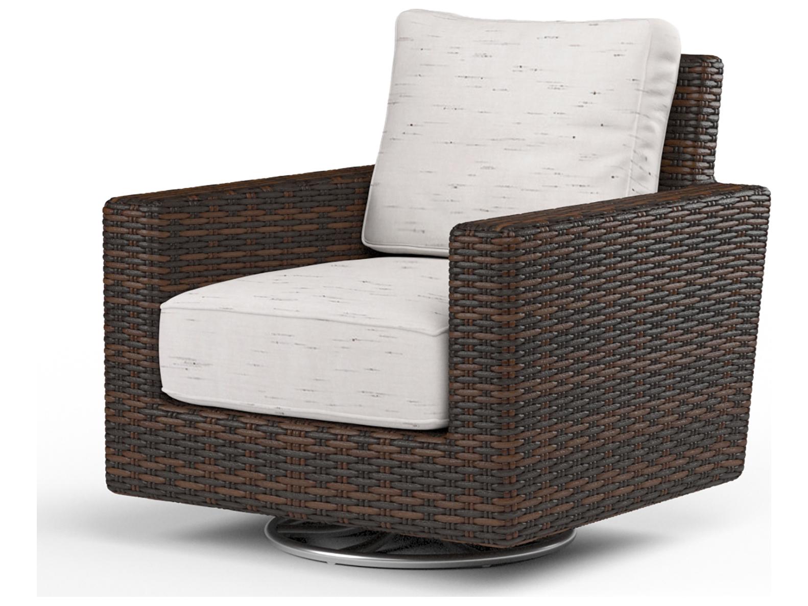 Sunset West Montecito Wicker Swivel Rocking Club Chair Sw250121srnonstock