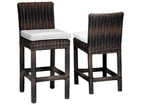 Sunset West Quick Ship Montecito Wicker Counter Stool
