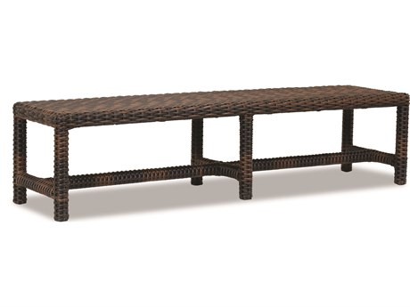 Sunset West Quick Ship Montecito Wicker Dining Bench
