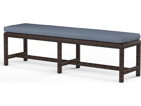 Sunset West Montecito Wicker Dining Bench