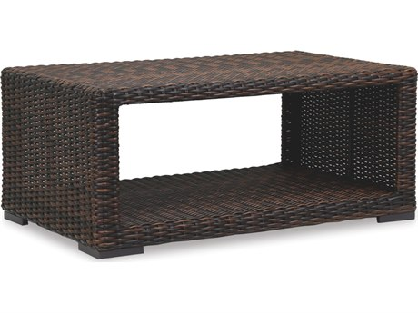 Sunset West Quick Ship Montecito Wicker 48 x 22 Rectangular Coffee Table