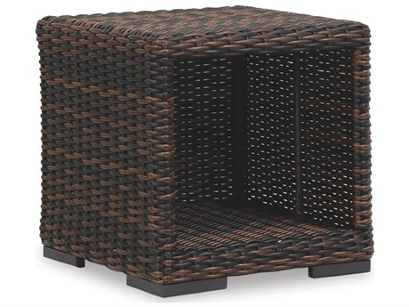 Sunset West Quick Ship Montecito Wicker 22 Square End Table