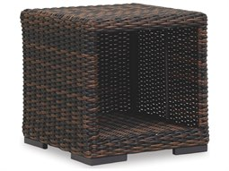 Quick Ship Montecito Wicker 22 Square End Table