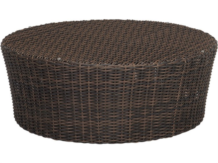 Sunset West Quick Ship Montecito Wicker 48 Round Coffeee Table