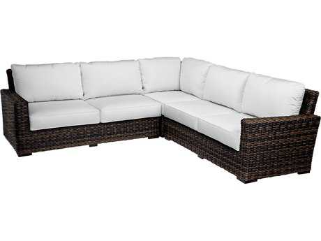 Sunset West Quick Ship Montecito Wicker Sectional