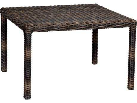 Sunset West Quick Ship Montecito Wicker 48 Square Dining Table
