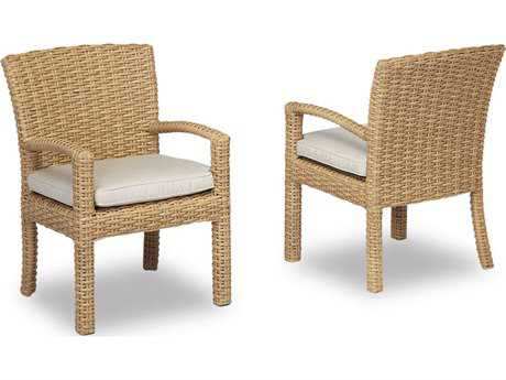 Sunset West Quick Ship Leucadia Wicker Dining Chair