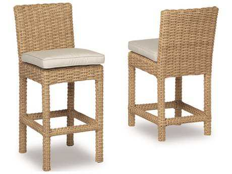 Sunset West Quick Ship Leucadia Wicker Barstool