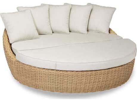 Sunset West Quick Ship Leucadia Wicker 2-Piece Daybed