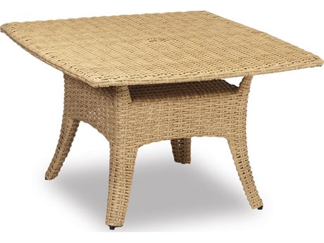 Sunset West Quick Ship Leucadia Wicker 48 Square Boat-Shaped Dining Table
