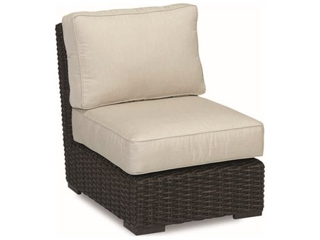 Sunset West Cardiff Wicker Armless Club Chair
