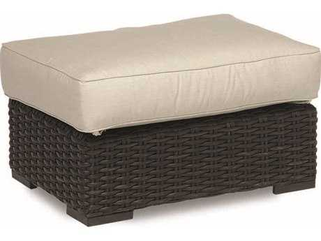 Sunset West Quick Ship Cardiff Wicker Rectangular Ottoman