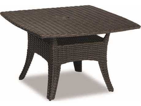 Sunset West Quick Ship Cardiff Wicker 48 Square Boat-Shaped Dining Table