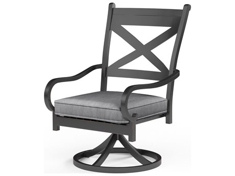 Sunset West Monterey Aluminum Swivel Rocking Dining Chair