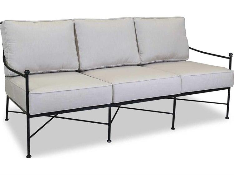 Wrought iron patio sofa for Sofa exterior conforama