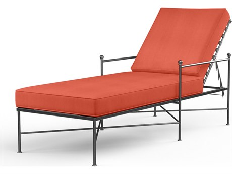 Sunset West Provence Wrought Iron Chaise PatioLiving