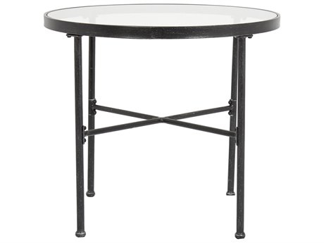 Sunset West Quick Ship Provence Wrought Iron 32Wide Round Bistro Table