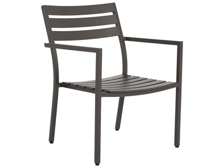 Sunset West Mesa Quick Ship Aluminum Dining Arm Chair in Cast Pumice