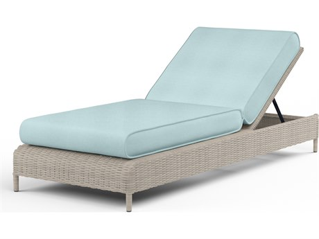 Sunset West Manhattan Wicker Adjustable Chaise
