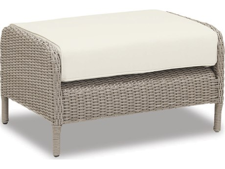 Sunset West Quick Ship Manhattan Wicker Ottoman