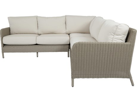 Sunset West Manhattan Wicker 3 Piece Sectional