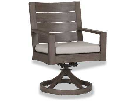 Sunset West Laguna Aluminum Swivel Dining Chair