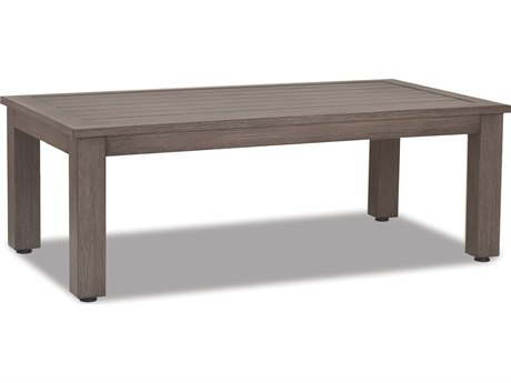 Sunset West Quick Ship Laguna Aluminum 54 x 29 Rectangular Coffee Table