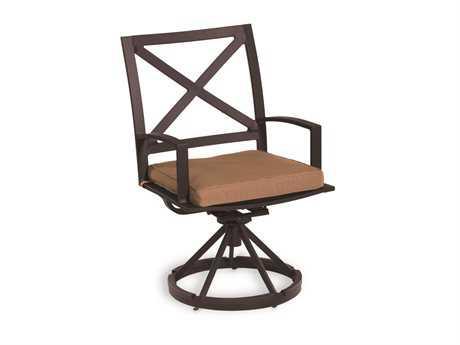 Sunset West La Jolla Aluminum Swivel Dining Arm Chair