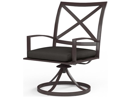 Sunset West La Jolla Aluminum Swivel Dining Chair