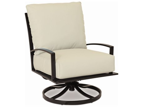 Sunset West La Jolla Aluminum Lounge Swivel in Canvas Flax with Self Welt