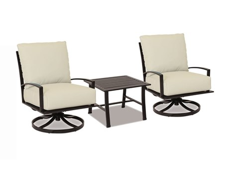 Sunset West La Jolla Swivel Clubs with End Table