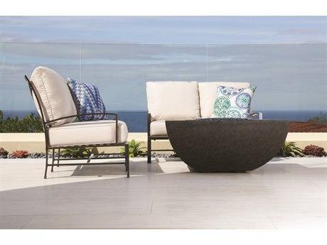 Sunset West La Jolla Aluminum Loveseat with Club Chair