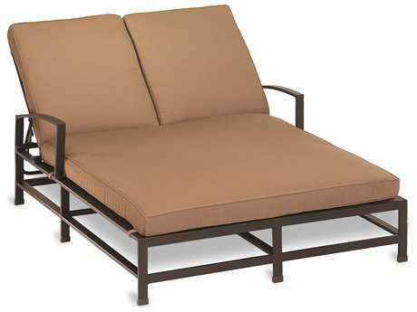 Sunset West Quick Ship La Jolla Aluminum Double Chaise Lounge