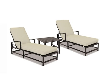 Sunset West Quick Ship La Jolla Aluminum Chaises with End Table