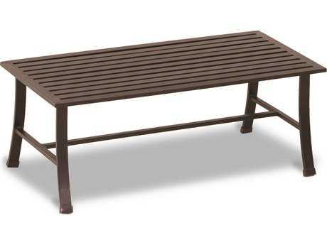 Sunset West La Jolla Aluminum 43 x 22 Rectangular Coffee Table