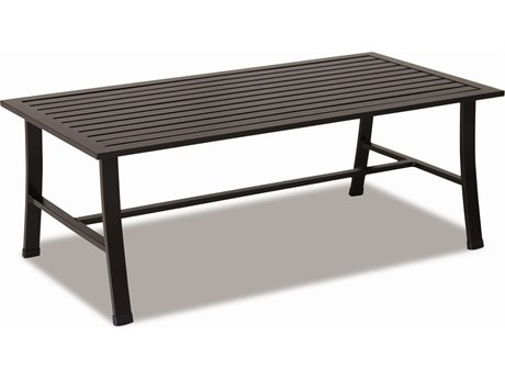 Sunset West Quick Ship La Jolla Aluminum 43 x 22 Rectangular Coffee Table